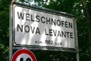 44-Ortsschild Welschnofen-Nova Levante